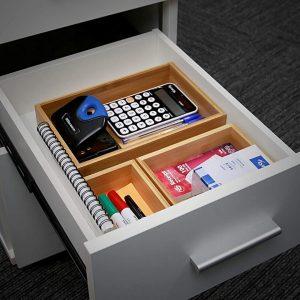 Rangement optimisé du bureau